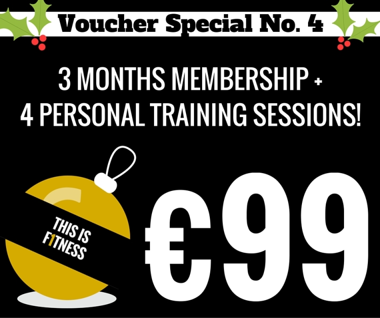 3 MONTHS MEMBERSHIP4 PERSONAL TRAINING SESSIONS