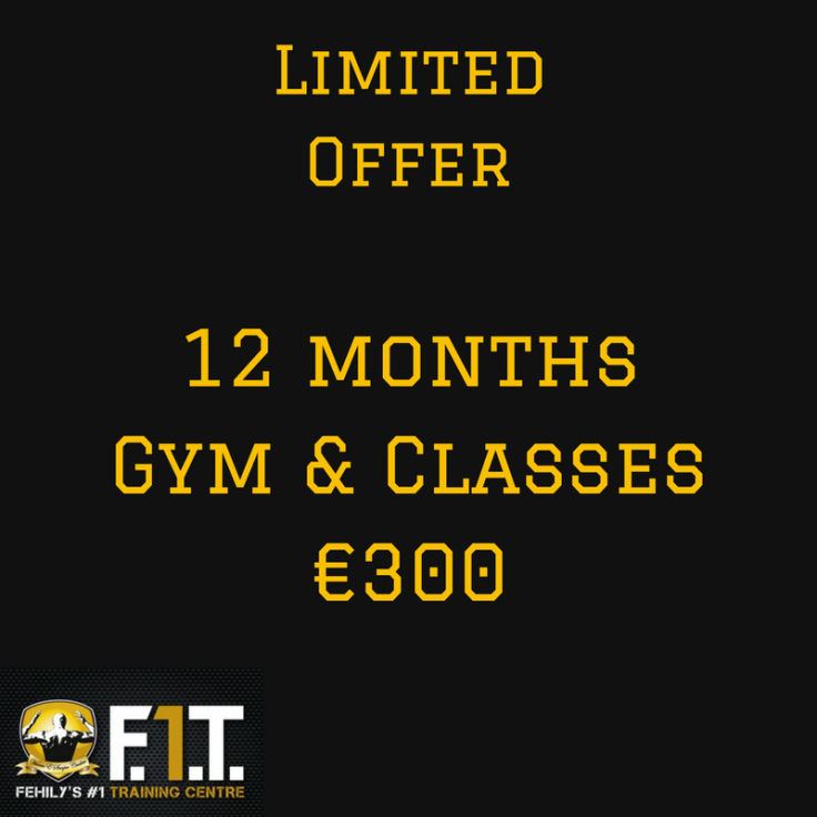 12 months Gym & Classes€300